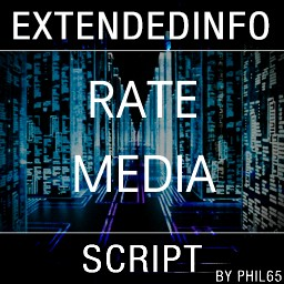 extendedinfo script - rate media items