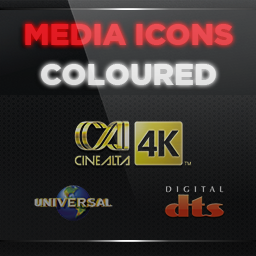 Media Icons Pack for Aeon MQ 7 - Coloured