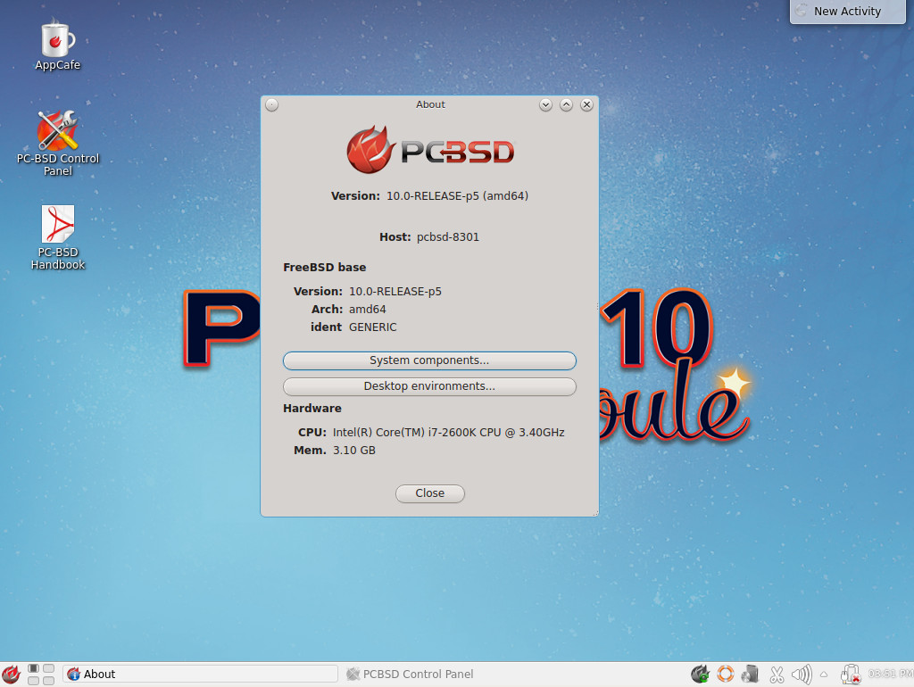 pc-bsd 10 about