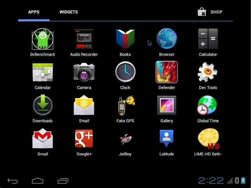 Android-x86 Screenshot
