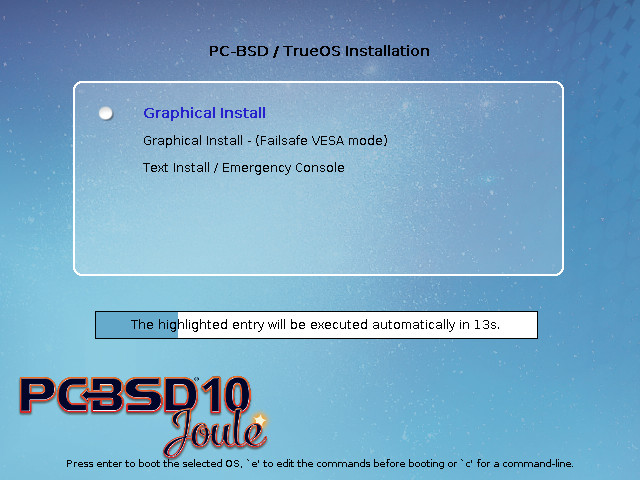 pc-bsd 10 installation