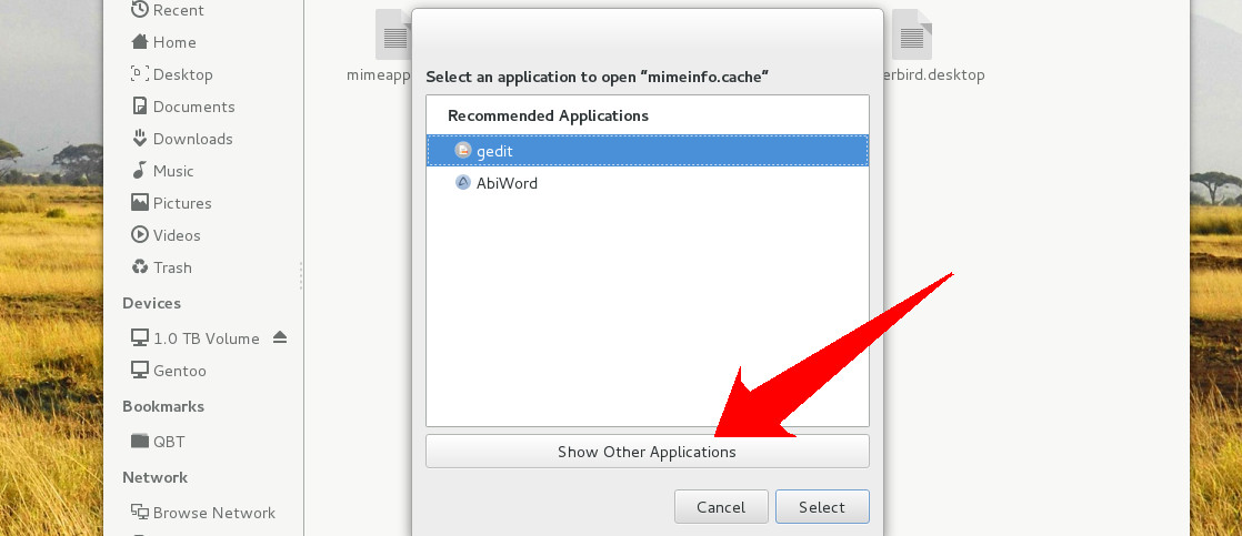 show other applications