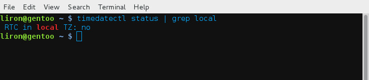 how to set up local time command