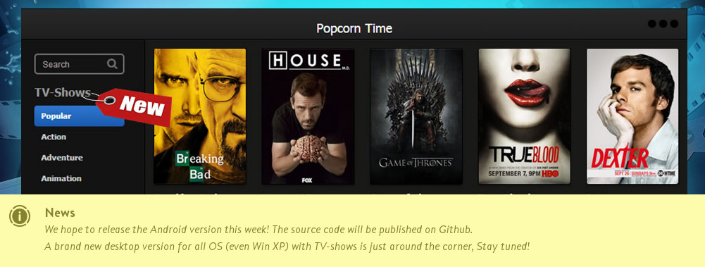 popcorn time new features