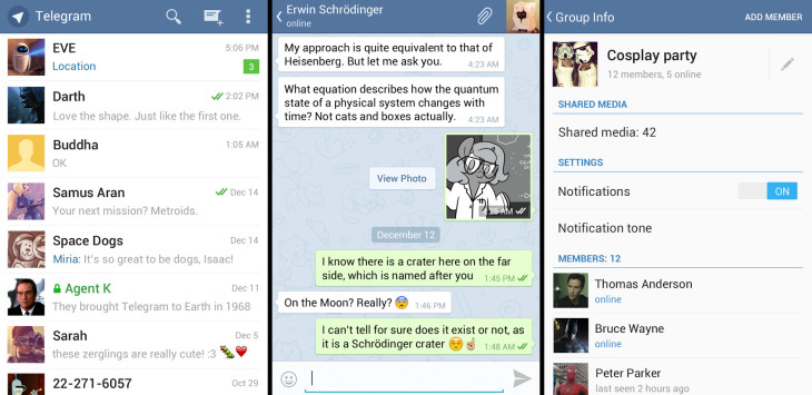 Telegram screen-shots
