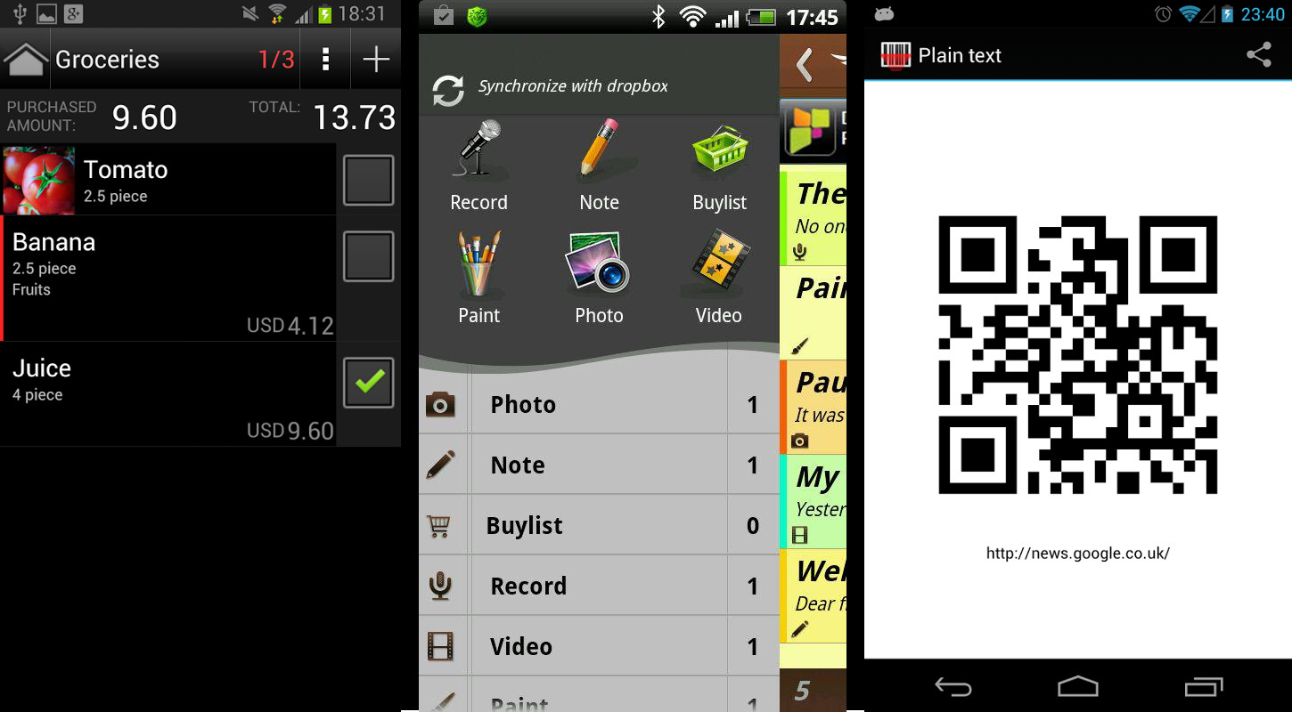 3 useful Android apps