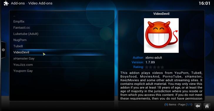 enable kodi xbmc adult content