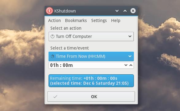 KShutdown app