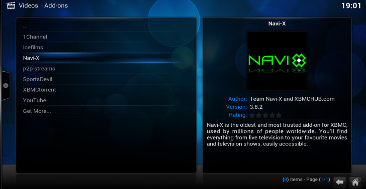 video addons navi-x