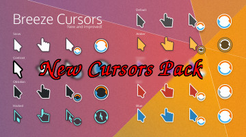 Breeze cursor icons