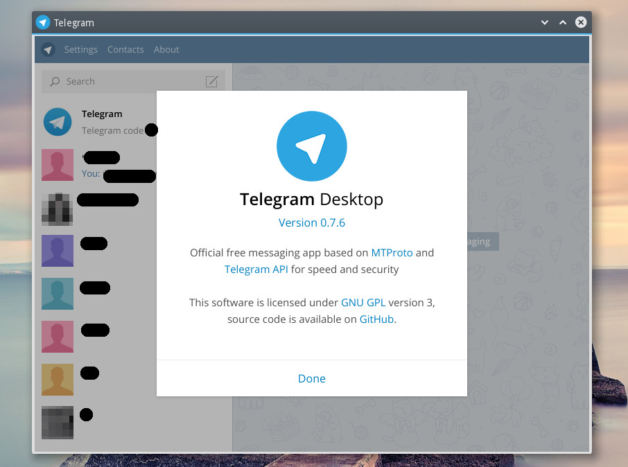 Telegram license