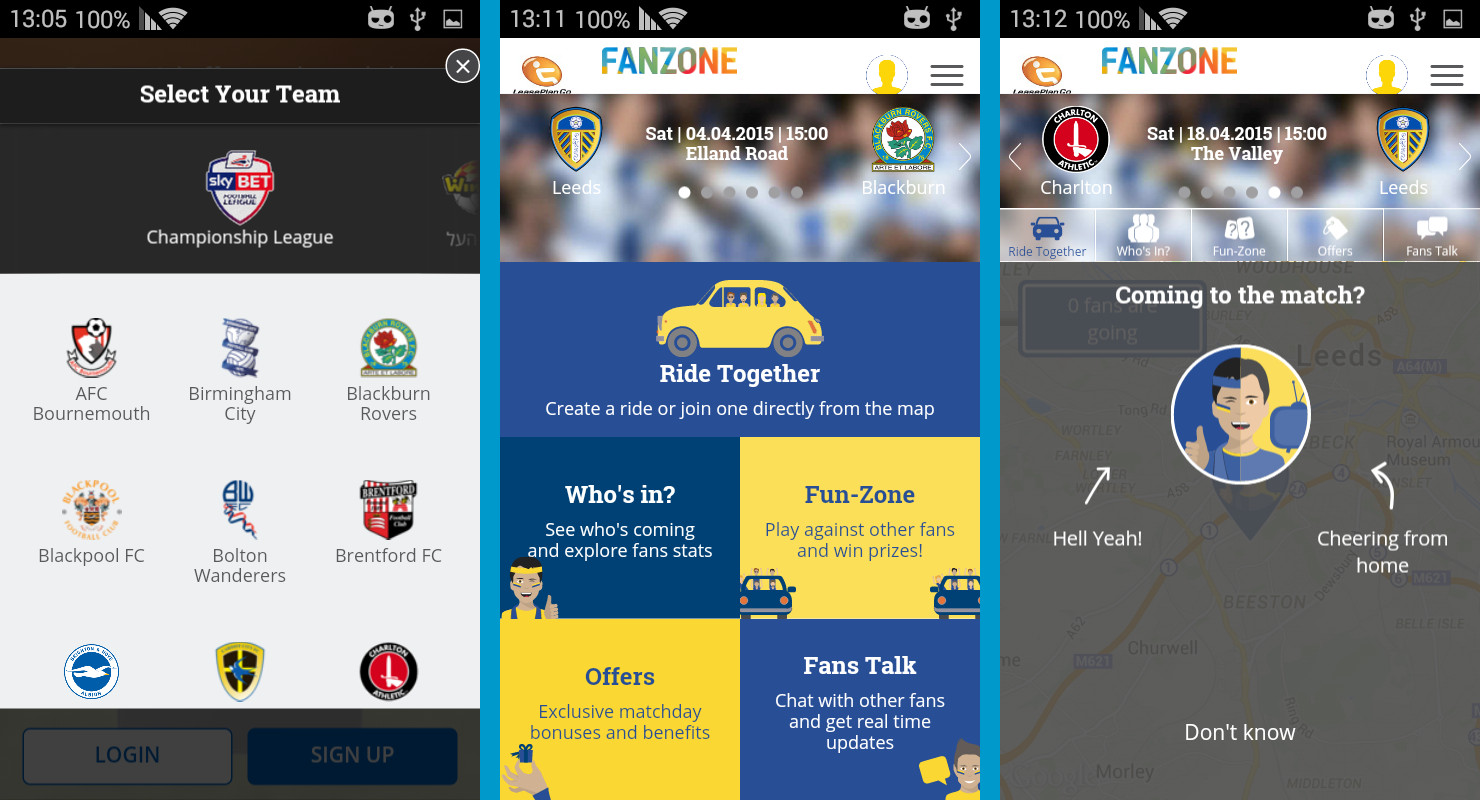 FanZone features