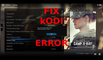 Fix kodi error one or more items failed to play