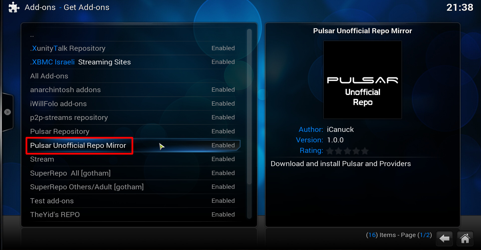 How to get Pulsar addon for XBMC / Kodi to work?! (With