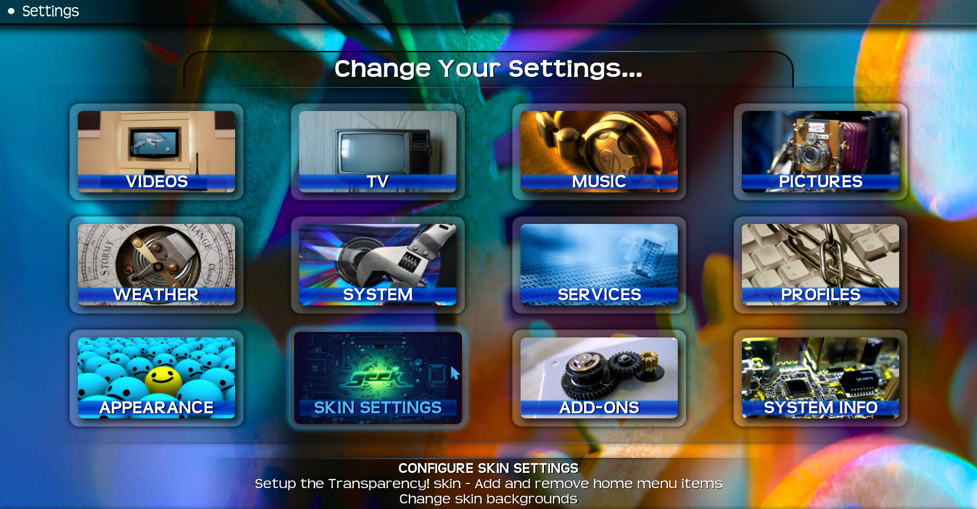 Change Kodi theme_skin