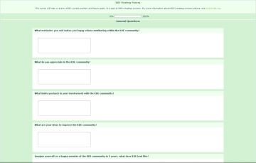 Evolving KDE survey