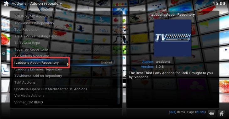 SuperRepo install TVaddons repository