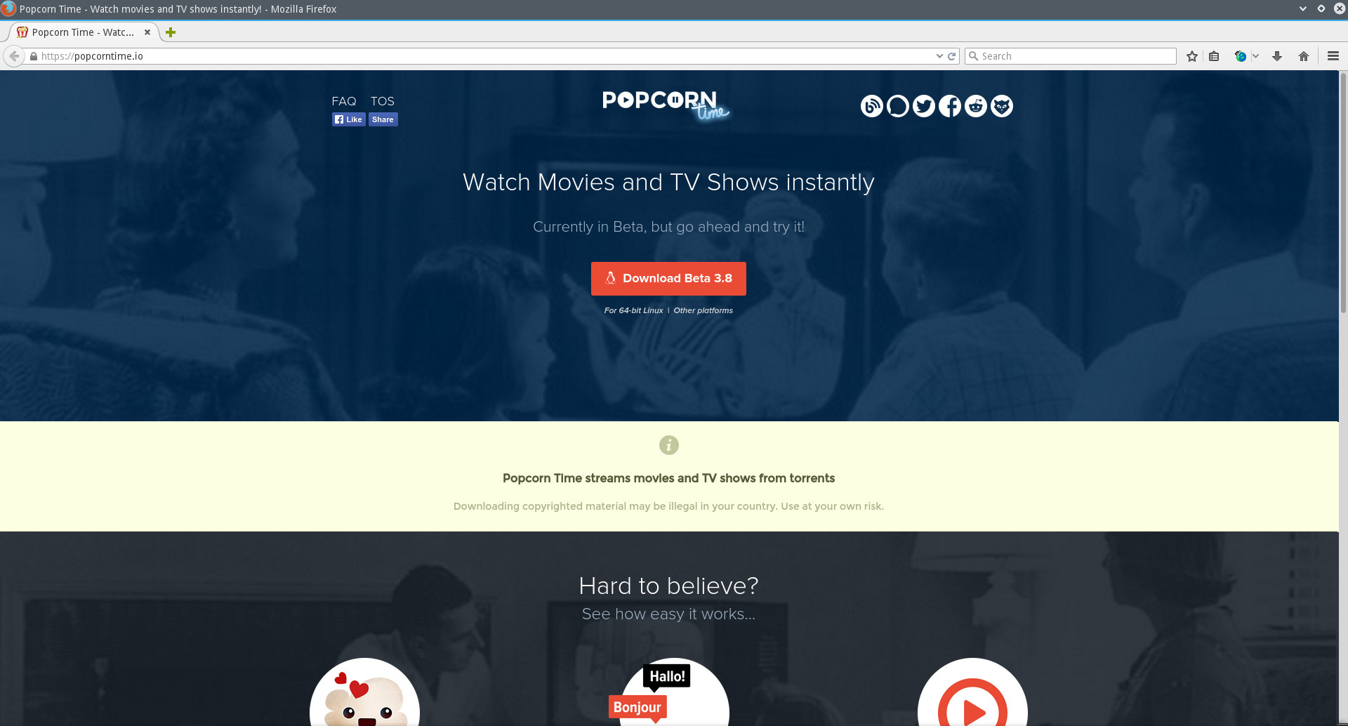 popcorn time - certificate issue fixed