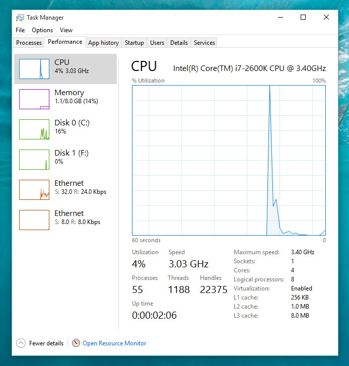 Win 10 performance