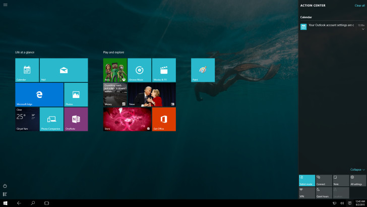 Win 10 tablet mode
