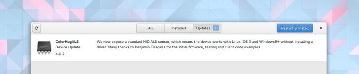 Gnome 3.18 firmware updates