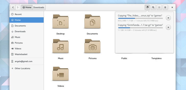 gnome 3.18 Files improvements