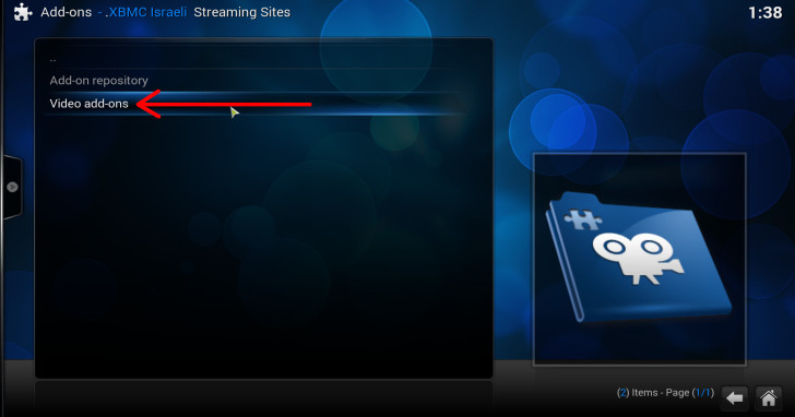 xbmc israeli streaming sites video addons