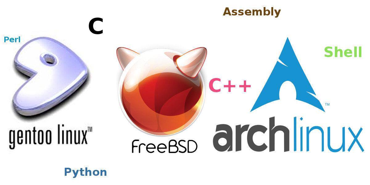 Arch vs Gentoo vs FreeBSD - programming languages