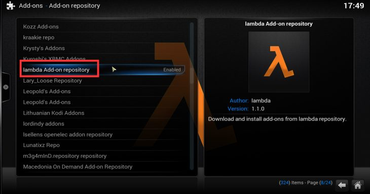SuperRepo install lambda repository
