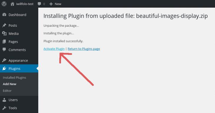 BID activate plugin
