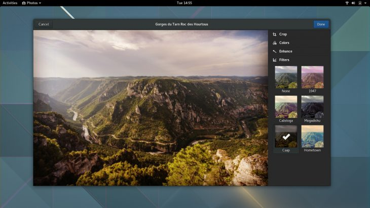 GNOME 3.20 easier photo editing in Photos