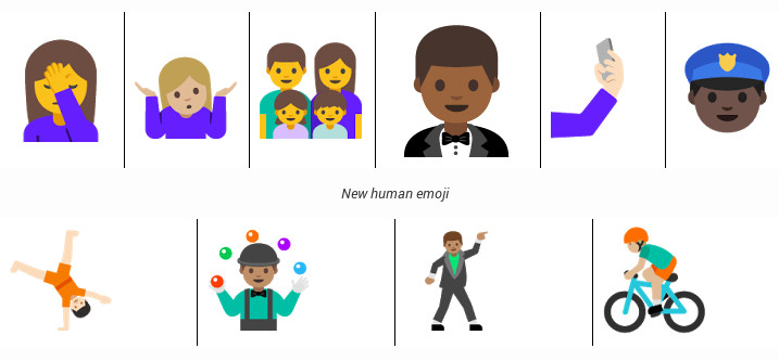 Android N New Emojis