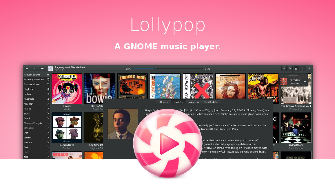 Lollypop music player 0.9.92