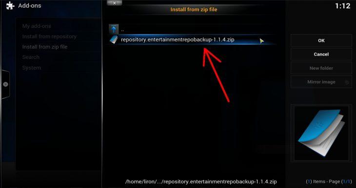 entertainment repo zip file