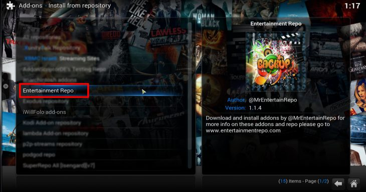 install from repository - Entertainment Repo
