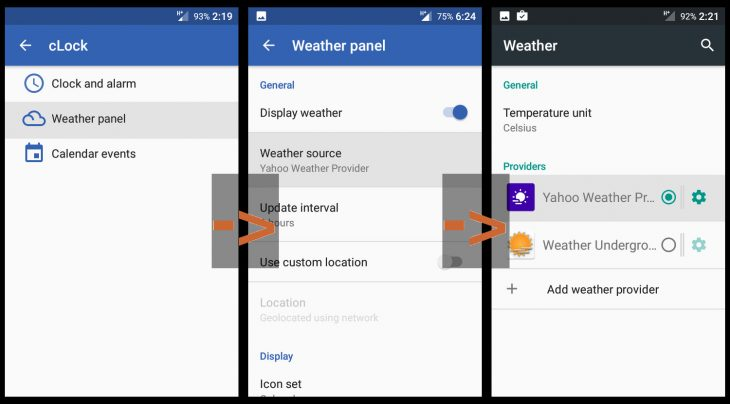 Cyanogenmod 13: enable weather provider in cLock
