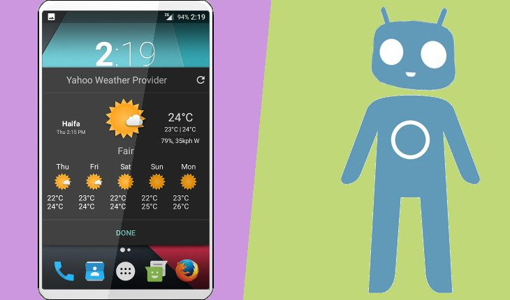 Cyanogenmod 13 make cLock weather work