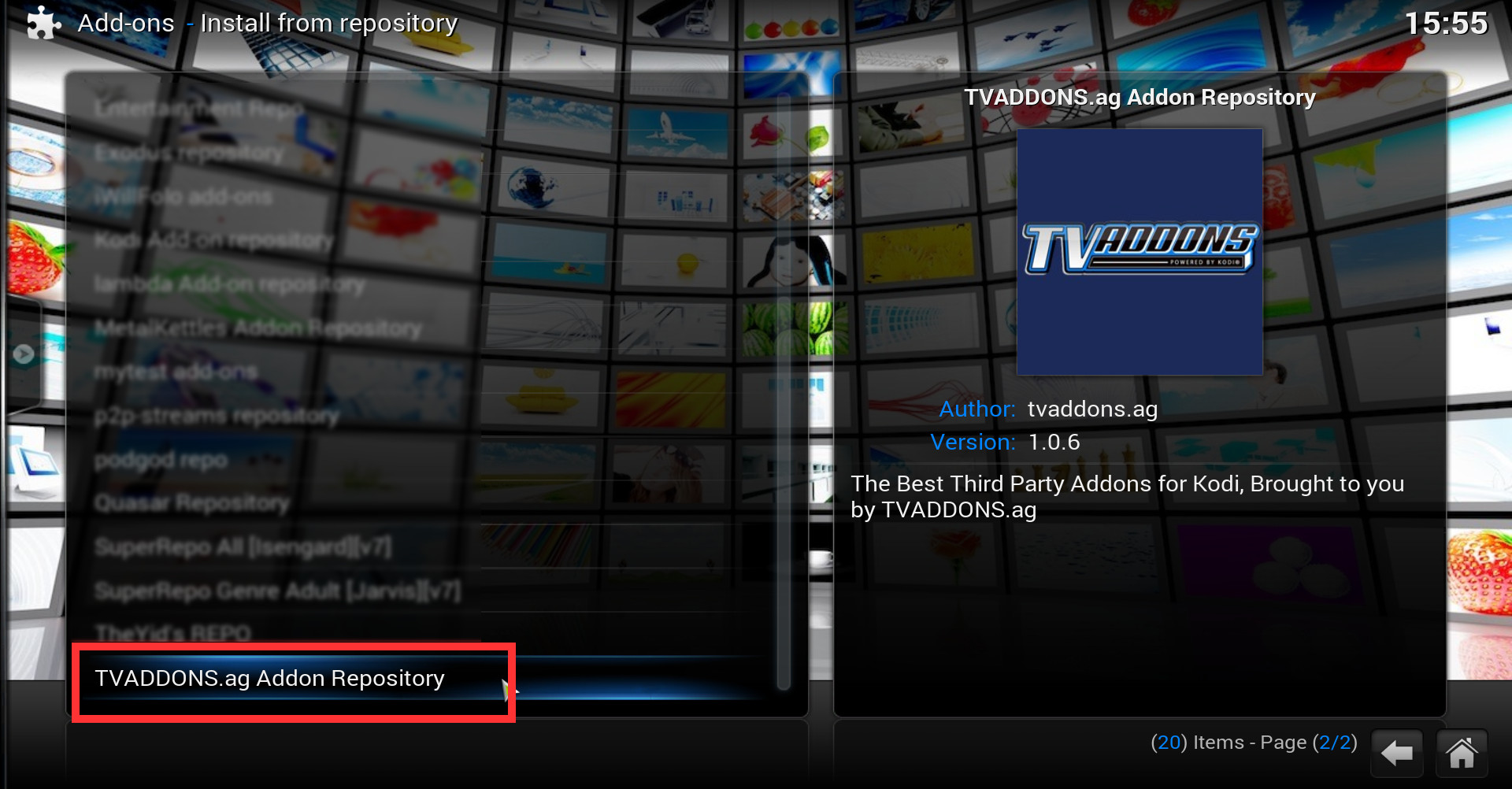 how to install tvaddons kodi repository  with screenshots