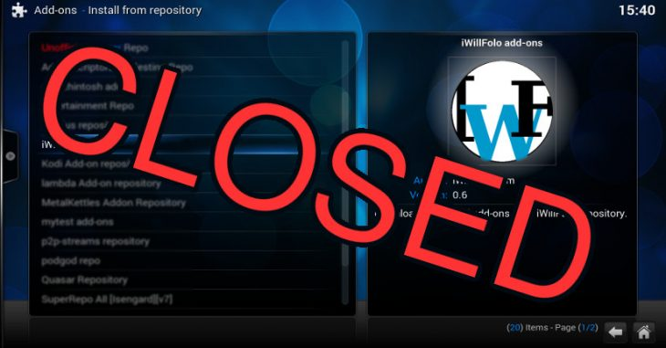 IWF Repository Closed