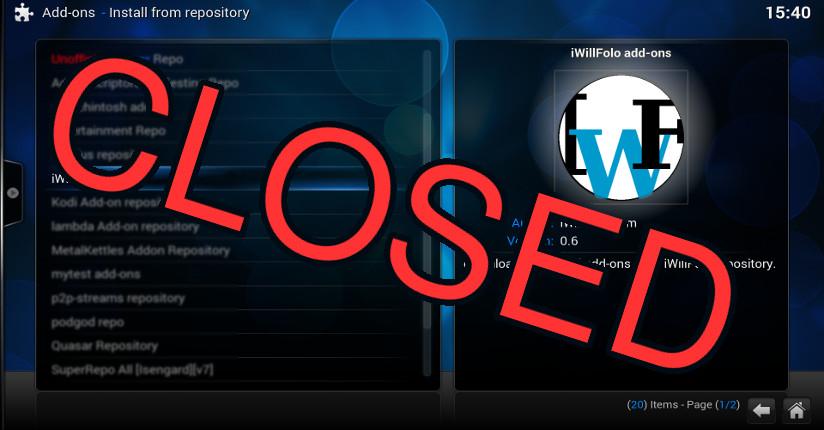 IWF Repository Closed