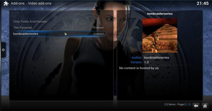 Addons inside Tomb Raider Repo
