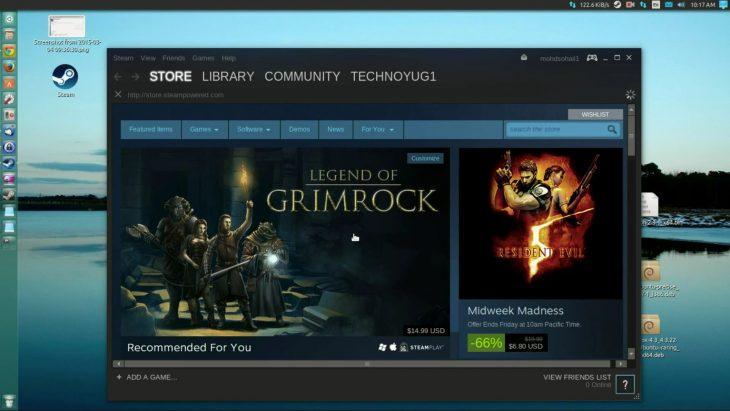 STEAM runs on Linux