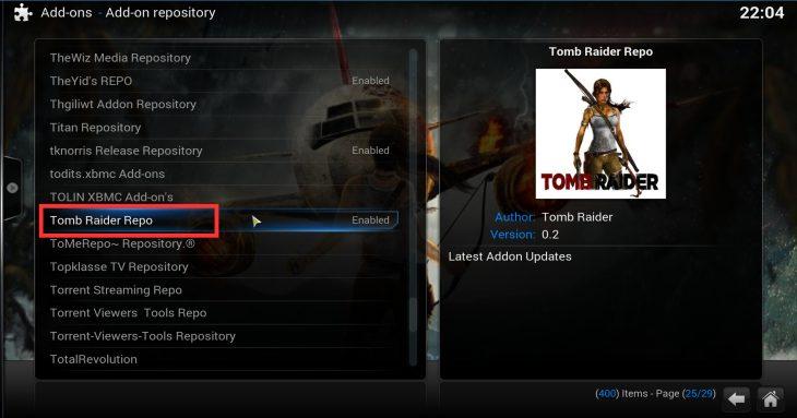 Tomb Raider Repo under SuperRepo