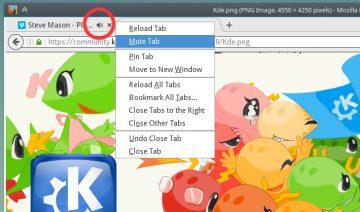 KDE Plasma visual audio indicator