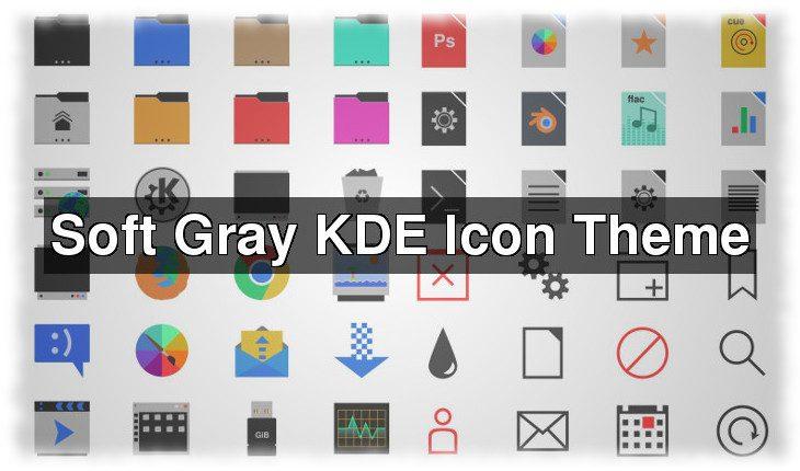 Soft Gray KDE icon theme
