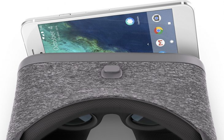 Daydream headset loaded with Android device