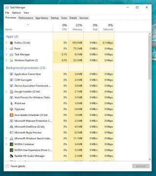 Close suspicious processes using Windows Task Manager