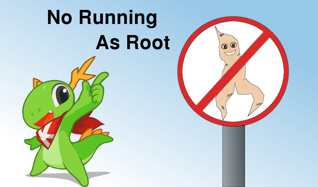 KDE: no running as root