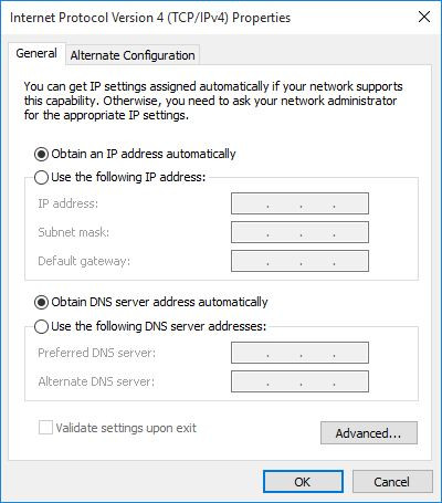 Select whether to obtain DNS automatically or add your own