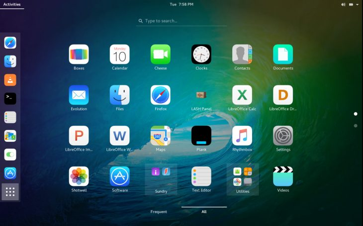 iOS iCons on GNOME desktop environment